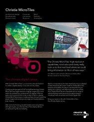 Christie MicroTiles Datasheet - Christie Digital Systems