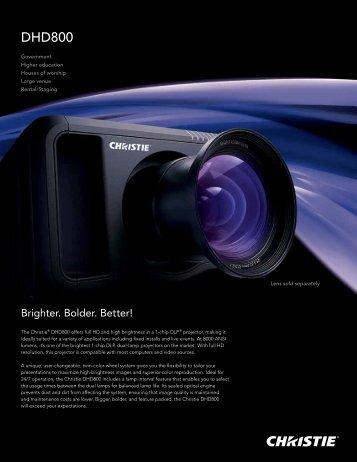 DHD800 - Christie Digital Systems