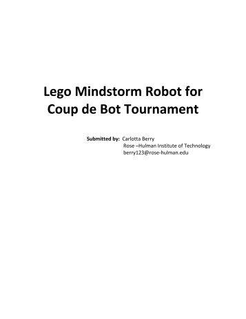 Lego Mindstorm Robot for Coup de Bot Tournament - Discovery Press