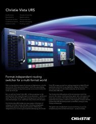 Christie Vista URS Brochure - Christie Digital Systems