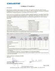 RoHS Compliance Certificate - Christie Digital Systems