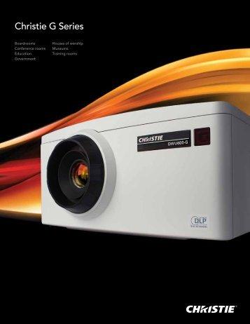Christie G Series Brochure - Christie Digital Systems