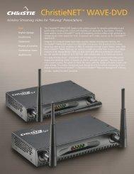 ChristieNET™ WAVE-DVD - Christie Digital Systems