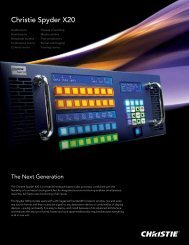 Christie Spyder X20 Brochure - Christie Digital Systems