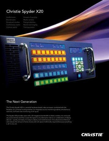 Christie Spyder X20 Brochure - Christie Digital Systems