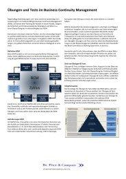 Übungen und Tests im Business Continuity Management - Dr. Peter ...