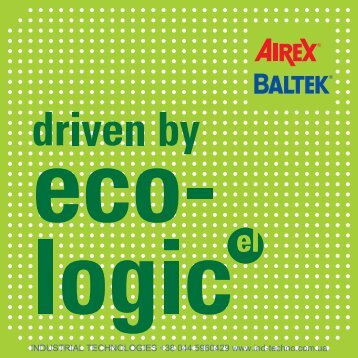 Driven by eco-logic Airex AG - Industrial Technologies
