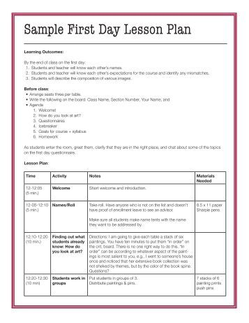 One day lesson plan template militaryalicious one day lesson plan template saigontimesfo