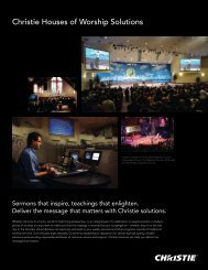Download the Christie Houses of Worship Solutions Brochure
