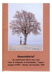 5. Gemeindebrief Okt-Nov 2009 mit Bild - Katholische ...