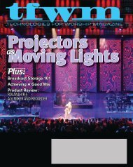 Technologies for Worship Magazine - Christie Digital Systems