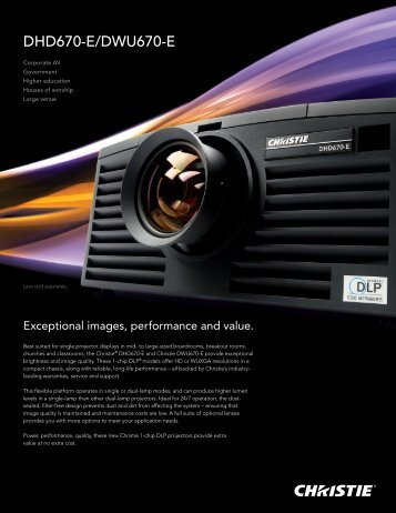 DHD670-E/DWU670-E - Christie Digital Systems