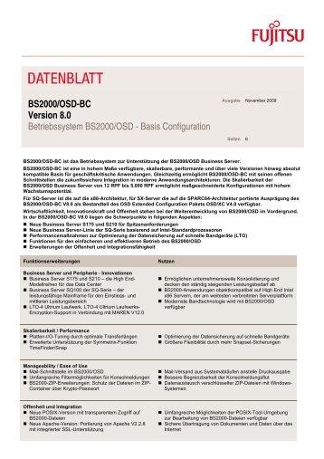 Datenblatt: BS2000/OSD-BC V8.0 - Fujitsu