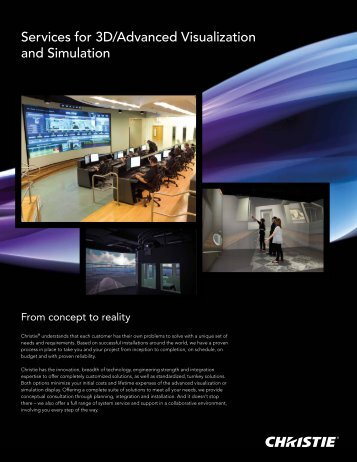 Services for 3D/Advanced Visualization and Simulation