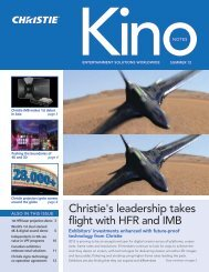 Christie's leadership takes flight with HFR and IMB - Christie Digital ...
