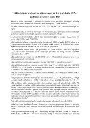Kontrolní otázky a problémové okruhy k testu z MIP