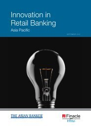 Innovation in Retail Banking: Asia Pacific - The Asian Banker