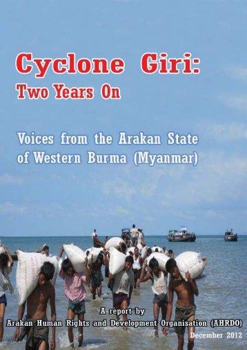 Cyclone Giri - Two Years On - Burma Action Ireland