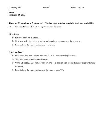 Exam 1 - UIC Department of Chemistry