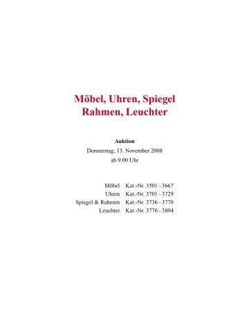 Möbel, Uhren, Spiegel Rahmen, Leuchter - Galerie Fischer ...