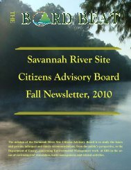Fall Newsletter - SRS CAB - Savannah River Site