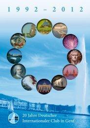 Broschüre 20 Jahre DICG [pdf, 10,2 - Deutscher Internationaler Club ...