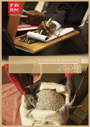 Rapport d'activité 2009 - Fondation FARM