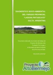 """diagnostico socio-ambiental del parque provincial """"laguna pintascayo"""""""
