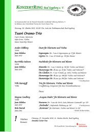 Taavi Oramo-Trio - Konzertring Bad Segeberg