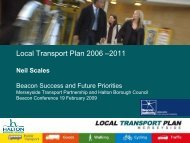 Local Transport Plan 2006 –2011 - the TravelWise Merseyside ...