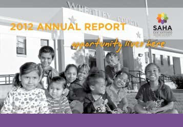 2012 ANNUAL REPORT - San Antonio Housing Authority
