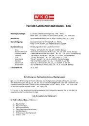 FACHORGANISATIONSORDNUNG - FOO