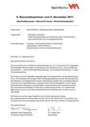 Programm - Departement Bau - Winterthur