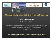 Atmospheric chemistry and spectroscopy
