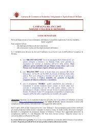 Camera di Commercio Industria Artigianato e Agricoltura di Milano ...