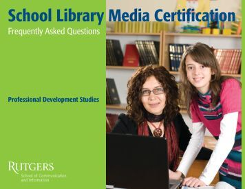 School Library Media Certification - Resources and Information from ...