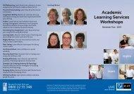 Semester 2 2013 Study Skills Workshop Brochure - EIT