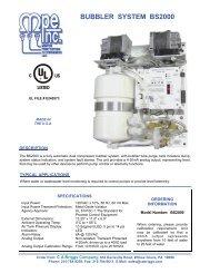 BS2000 Bubbler Pump Control System, with 4-20mA ... - CA Briggs