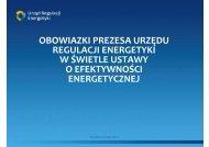 obowiązki Prezesa Urzędu Regulacji Energetyki w świetle ustawy