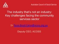 Key challenges facing the community services sector ... - Service Skills