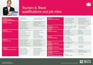Tourism & Travel qualifications and job roles - Service Skills