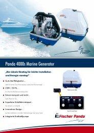 Panda 4000s Marine Generator - Fischer Panda