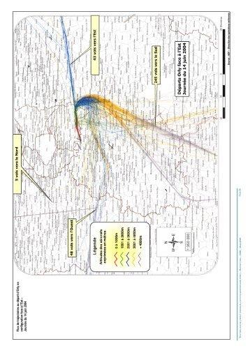Trajectoires, altitudes et fréquences de survol - Partie 2