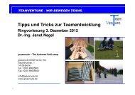 Tipps und Tricks zur Teamentwicklung