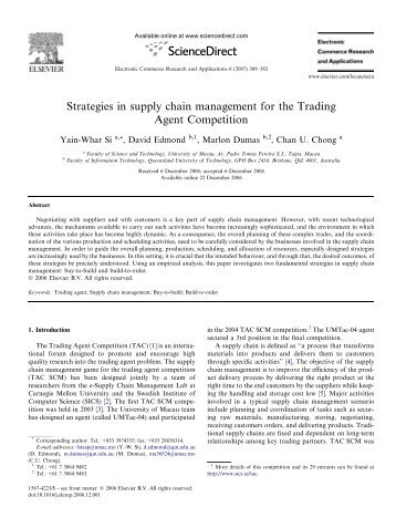 Trading agent strategies