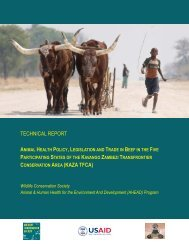 TECHNICAL REPORT - Animal & Human Health for the ...