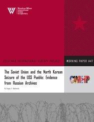 The Soviet Union and the North Korean Seizure of the USS Pueblo ...
