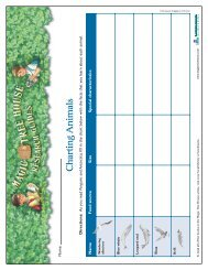 Charting Animals - Magic Tree House