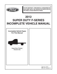 2012 super duty f-series incomplete vehicle manual - Ford Fleet