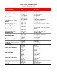 View LexisNexis Labour Training Schedule 2013